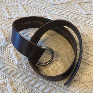 vintage Banana Republic d-ring strap belt